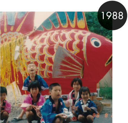 長谷川さんの鯛車を野口が引いた